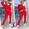 Женский костюм двойка. Ткань:трехнитка на флисе. Размеры : 42-44 46-48, 50-52. Цвет:красный,фриза., фото 2