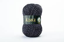 Пряжа шерстяная Vita Alpaca wool, Color No.2989 черно-серый микс