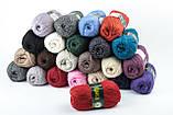 Пряжа Vita Alpaca wool 2989 черно-серый микс, фото 2