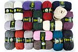 Пряжа Vita Alpaca wool 2989 черно-серый микс, фото 3