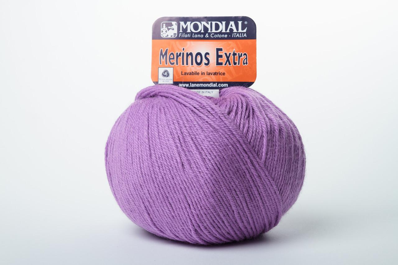 Пряжа Mondial Merinos Extra 0754 фиолетовый