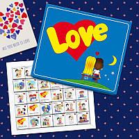 """Шоколадный набор """"Love is"""" 150 грамм"""
