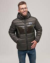 Куртка зимняя мужская короткая. Цвет хаки. Размер 46(S), 48(M)