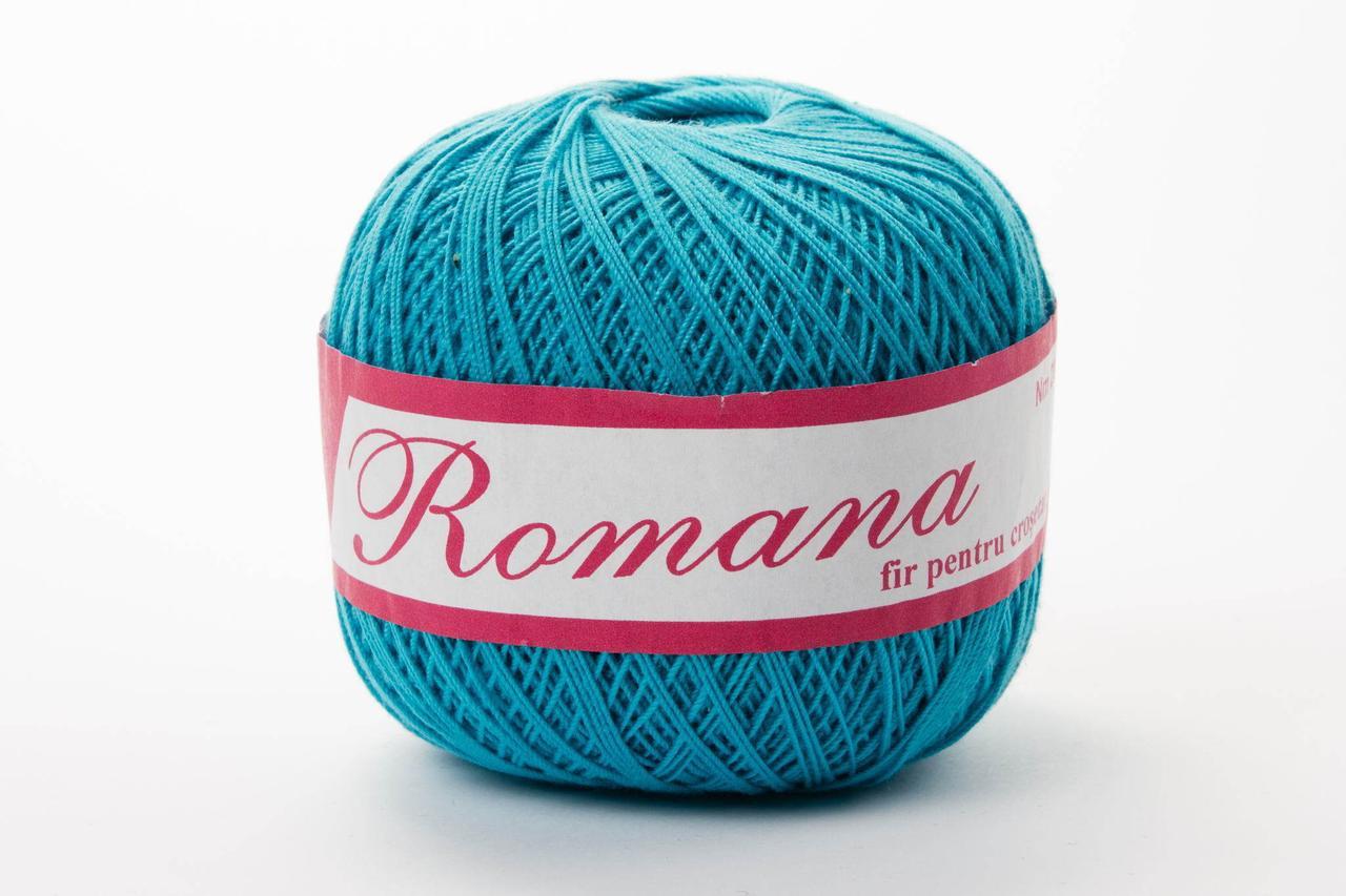 Пряжа Romanofir Romana 0094 бирюза