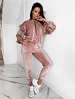 Женский плюшевый велюровый костюм, фото 1