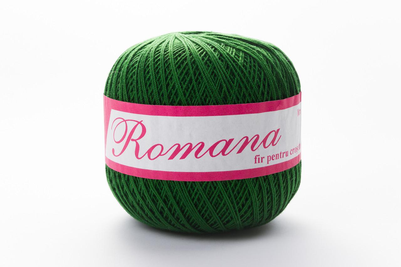 Пряжа Romanofir Romana 1257 травяной