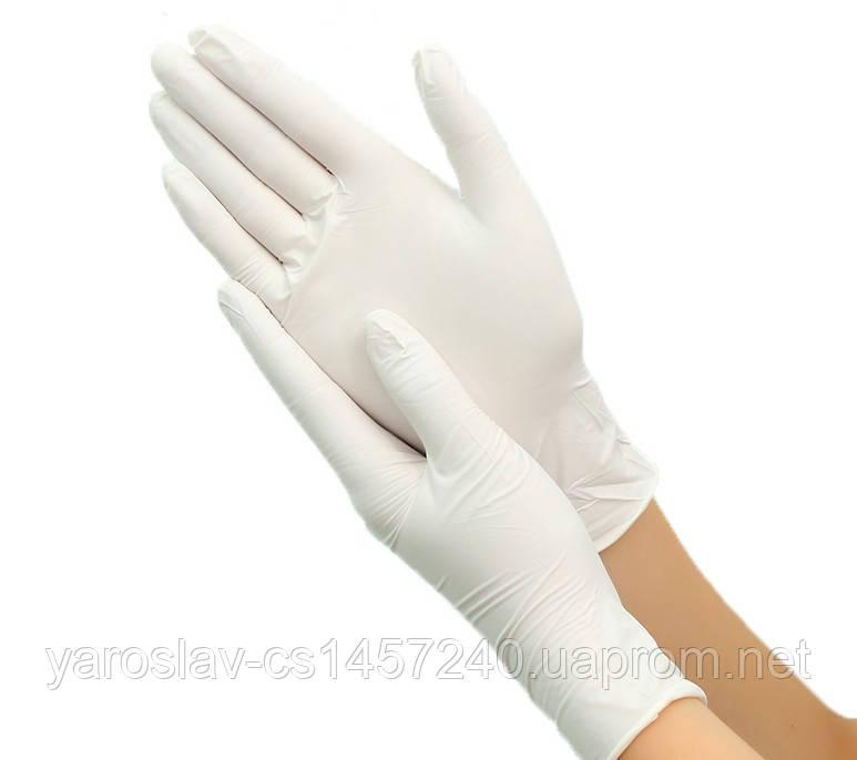 Перчатки латексные опудренные размер M, 100 шт.