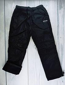 Штани спортивні для хлопчиків На флісі Чорний зріст 146 см, 10 років