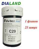 Тест-полоски Файнтест Премиум (Finetest Premium) 25 штук - 1 флакон
