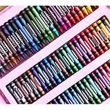 Детский набор для рисования 208 предметов в удобном кейсе с ручкой + Мольберт Голубой, фото 7
