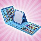 Детский набор для рисования 208 предметов в удобном кейсе с ручкой + Мольберт Голубой, фото 8