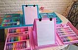 Детский набор для рисования 208 предметов в удобном кейсе с ручкой + Мольберт Голубой, фото 10