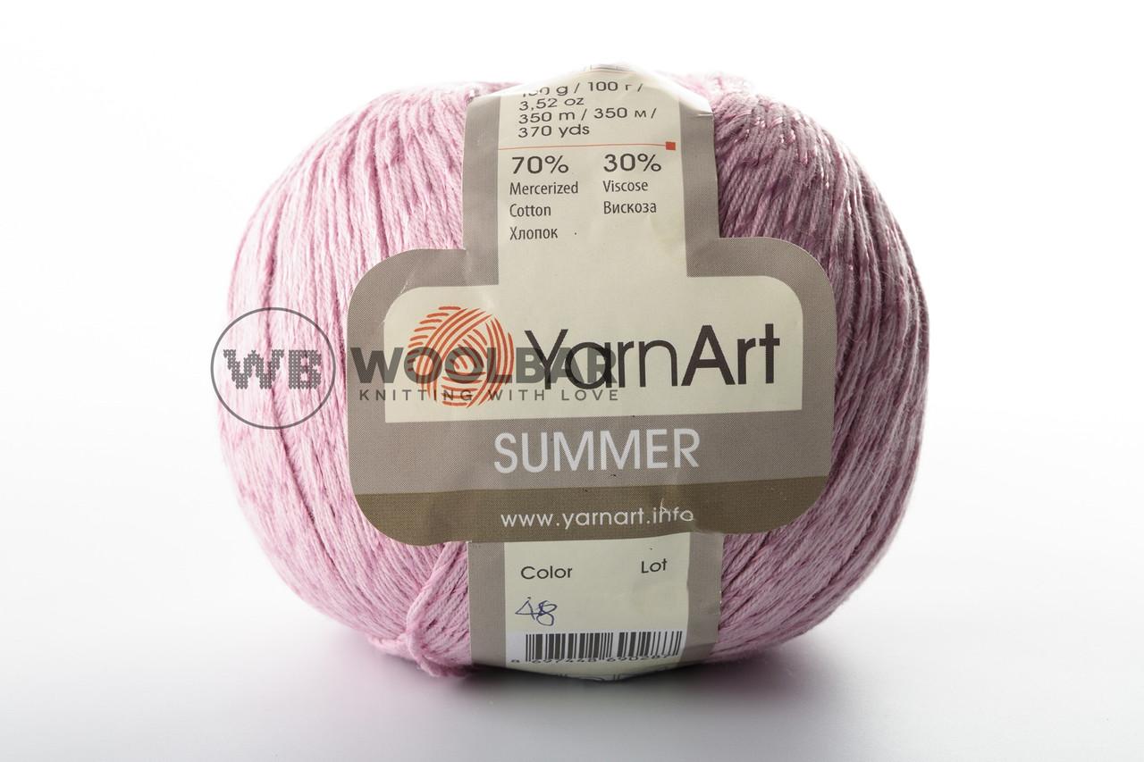 Пряжа YarnArt Summer 48 світлий рожево-фіолетовий