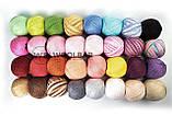 Пряжа YarnArt Summer 130 бело-розово-фиолетовый меланж, фото 2