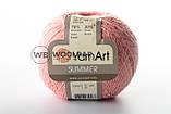 Пряжа YarnArt Summer 130 бело-розово-фиолетовый меланж, фото 7