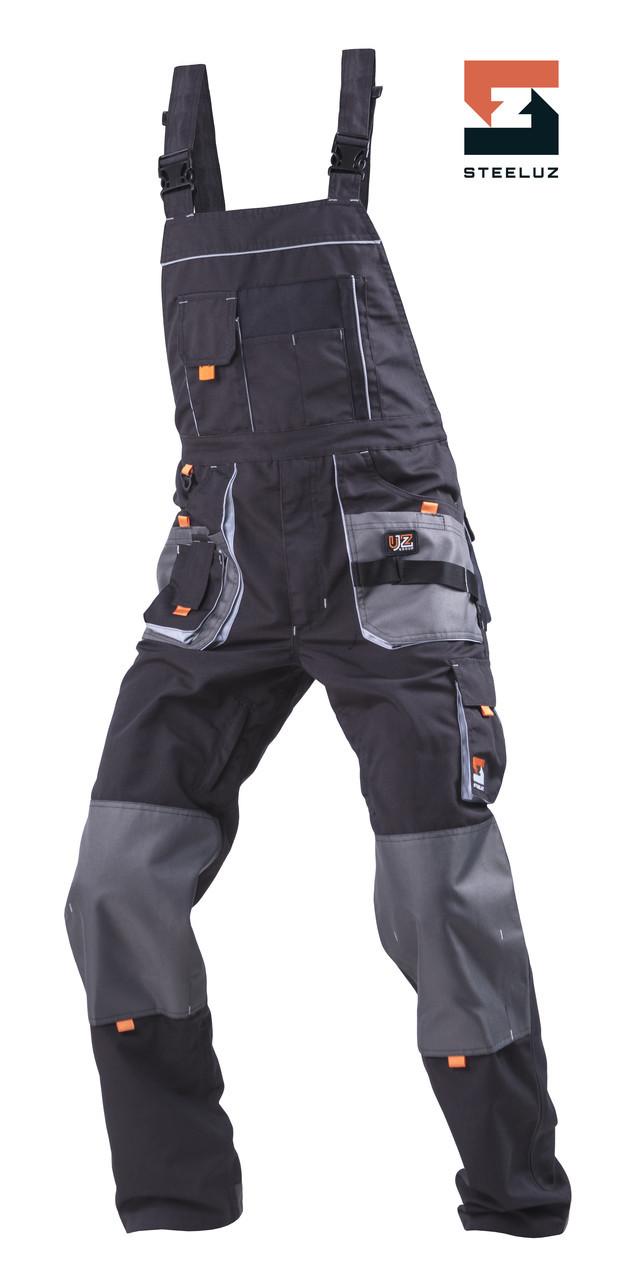 Полукомбинезон рабочий SteelUZ Темно-серый с светло-серой отделкой, 40