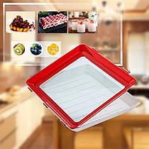 Розумний піднос для зберігання їжі Винахідлива господиня - контейнер з кришкою для нарізки і продуктів