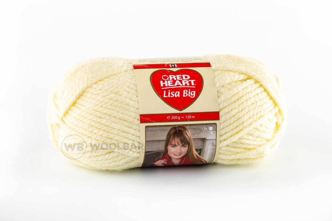 Пряжа Red Heart Lisa Big 00102 молочный