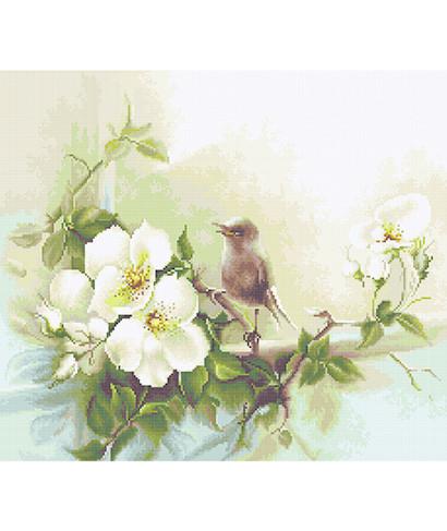 """Luca-S """"Птичка и цвет яблони"""" BA2315 набор для вышивания крестом"""