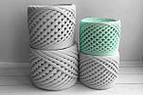 Пряжа трикотажна Bobilon 3-5 мм (micro) 30 м'ята, фото 3