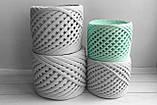 Трикотажная пряжа Bobilon 3-5 мм (micro) 52 серый меланж, фото 3