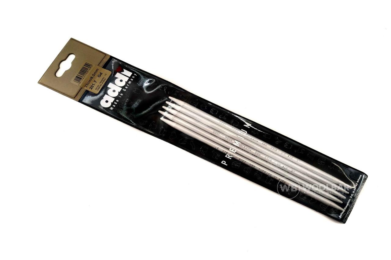 Addi - Спицы чулочные алюминиевые, 6 мм, 20 см
