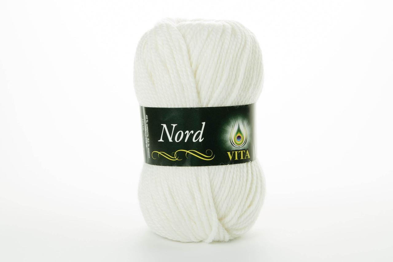 Пряжа полушерстяная VITA Nord, Color No.4751 белый