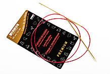 Addi 755-7/100-2.50 Спицы круговые с удлиненным кончиком позолоченные, 100 см, 2.50 мм