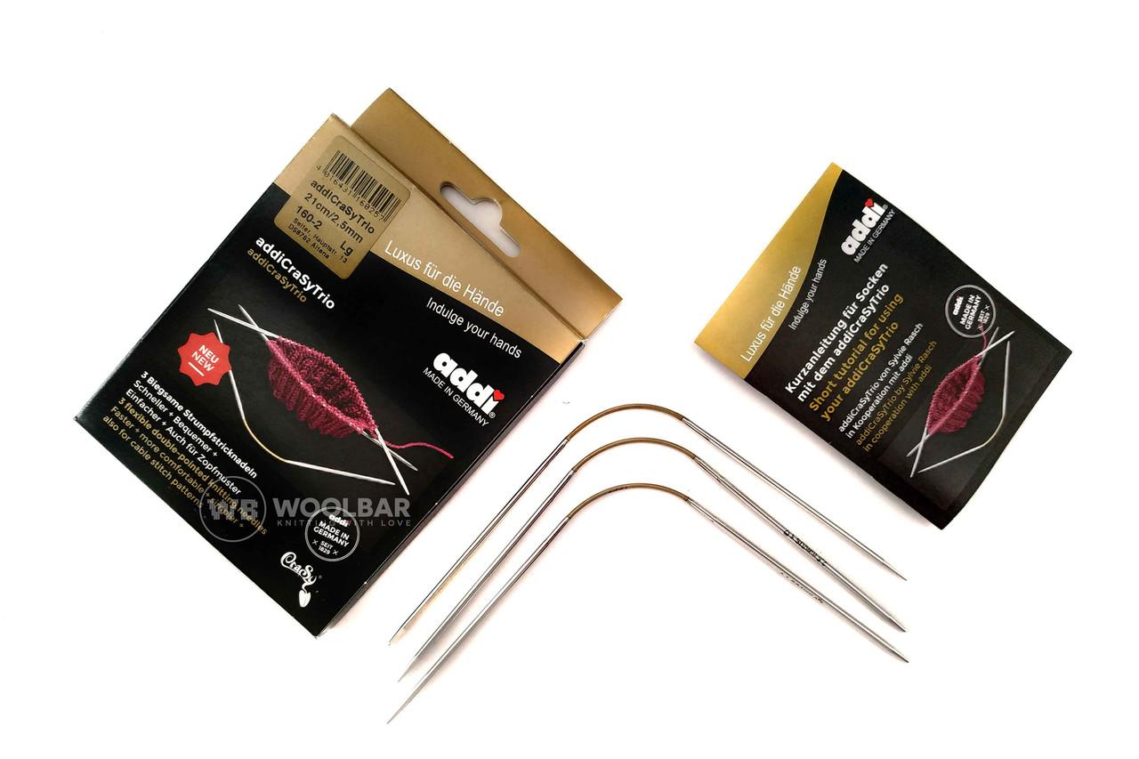 Addi CraSyTrio 160-2/021-2.50 Спицы чулочные гибкие CraSyTrio, 21см, 2.50 мм