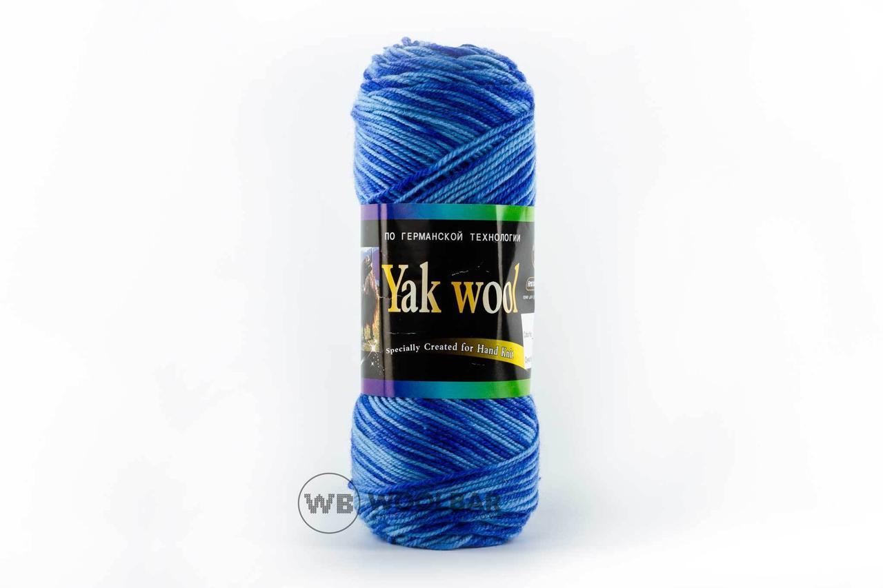 Пряжа Color City Yak wool 939 голубой меланж