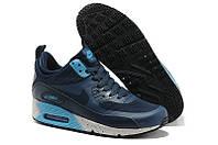 Кроссовки мужские Nike Air Max Sneakerboot (в стиле найк аир макс) синие