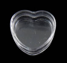 "Контейнер (органайзер) баночка ""сердце"" для хранения бисера (1х3 см)"