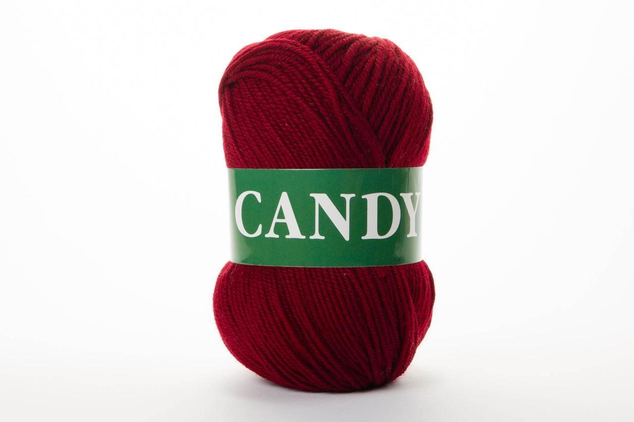 Пряжа Vita Candy 2508 тёмный бордо