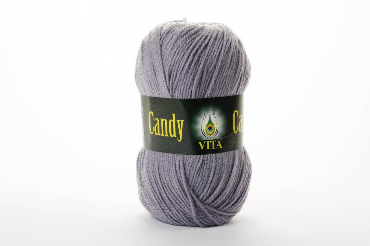 Пряжа Vita Candy 2509 средне-серый