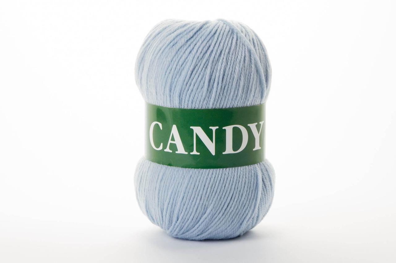 Пряжа вовняна Vita Candy, Color No.2521 світло-блакитний