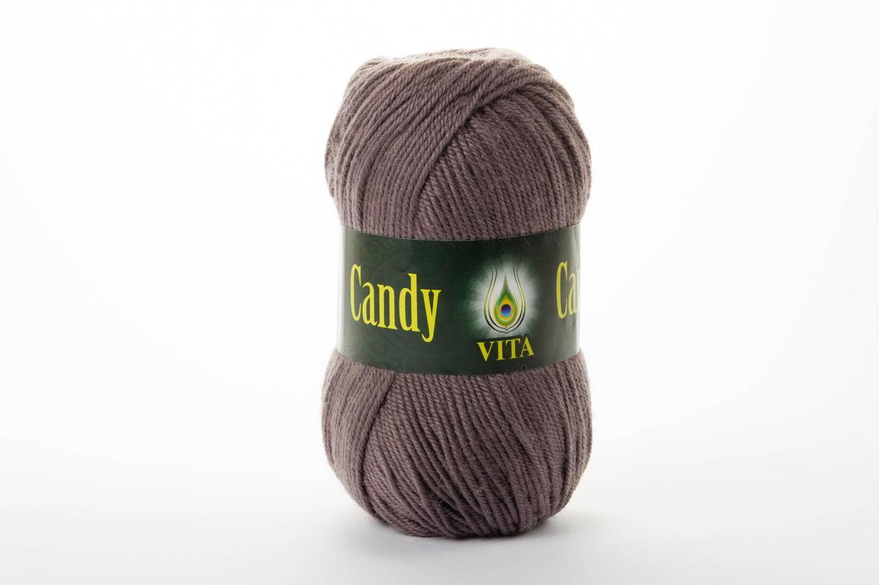Пряжа вовняна Vita Candy, Color No.2522 світло-коричневий
