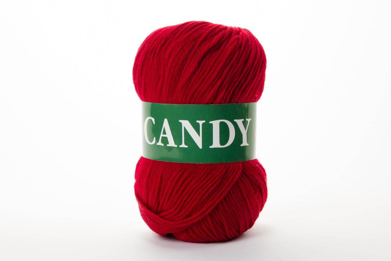 Пряжа Vita Candy 2524 багрово-красный