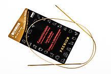 Addi 755-7/80-2.00 Спицы круговые с удлиненным кончиком позолоченные, 80 см, 2.00 мм