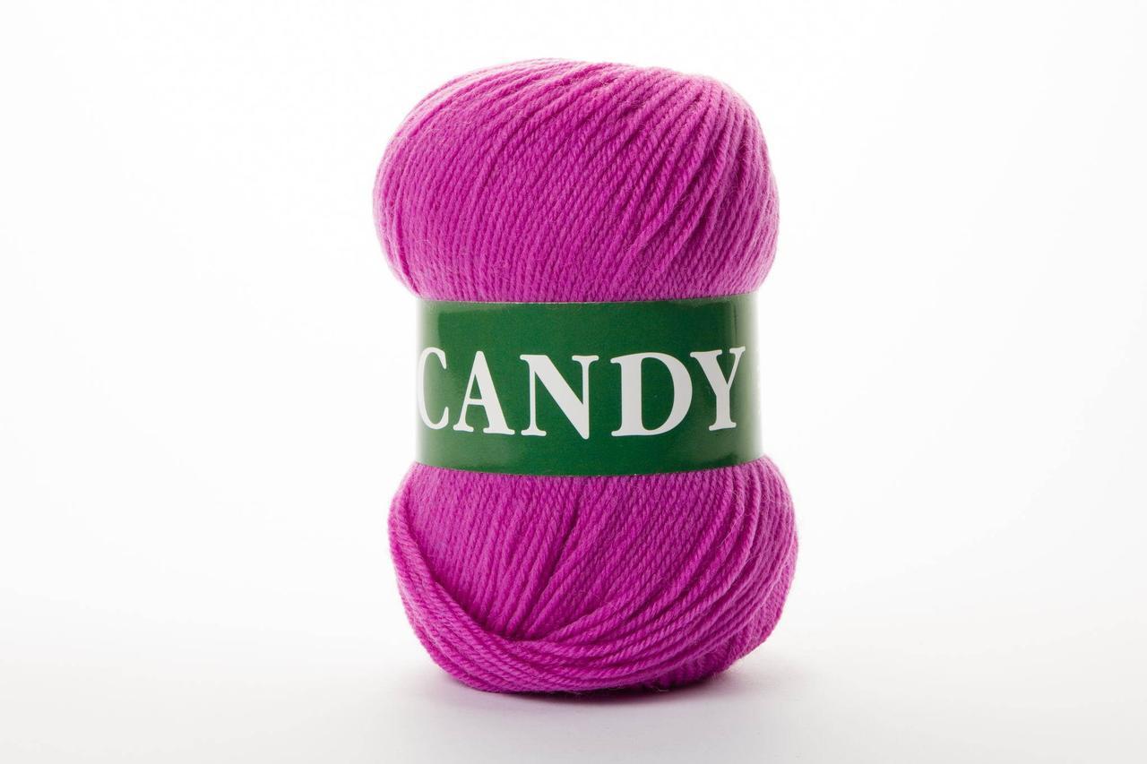 Ряжа шерстяная Vita Candy, Color No.2533 фуксия