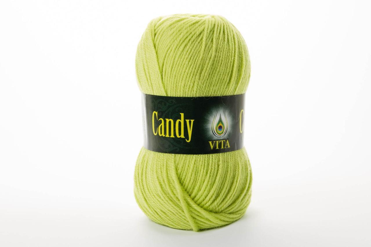 Пряжа Vita Candy 2542 яркий  салат