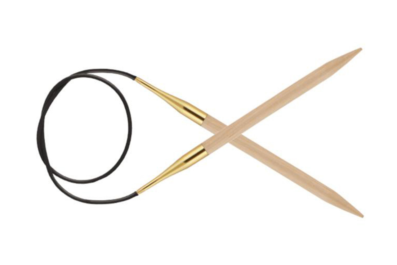 KnitPro Basix Birch Wood круговые, 5.5 мм, 80 см (35331)
