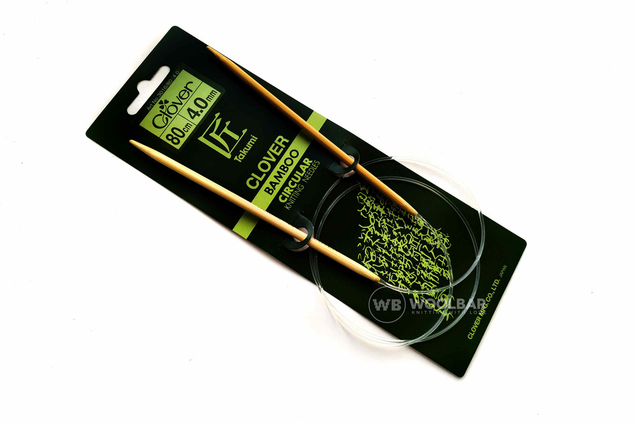 Clover - бамбукові Спиці Takumi 80 см, 4.0 мм