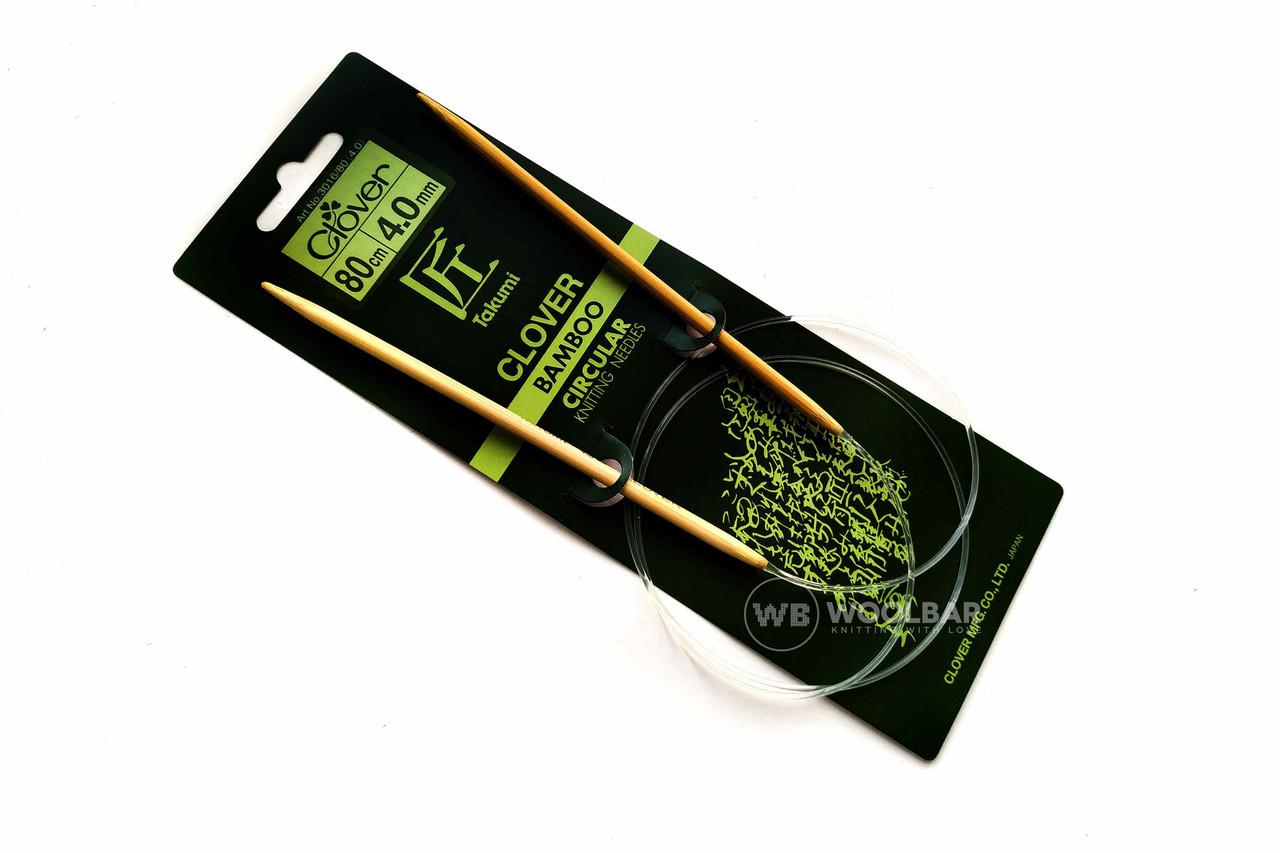 Clover - Спицы бамбуковые Takumi 80 см, 4.0 мм