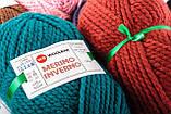 Пряжа Woolbar Merino Inverno 0211 пыльный красный (сангиновый), фото 5