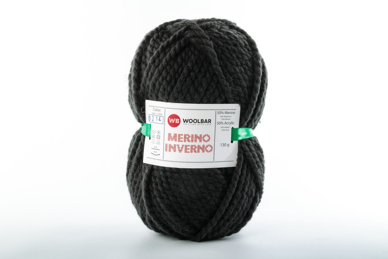 Пряжа Woolbar Merino Inverno 0214 уголь