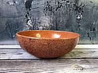 Пиала V 1 л с гранитным покрытием оранжевого цвета, фото 1