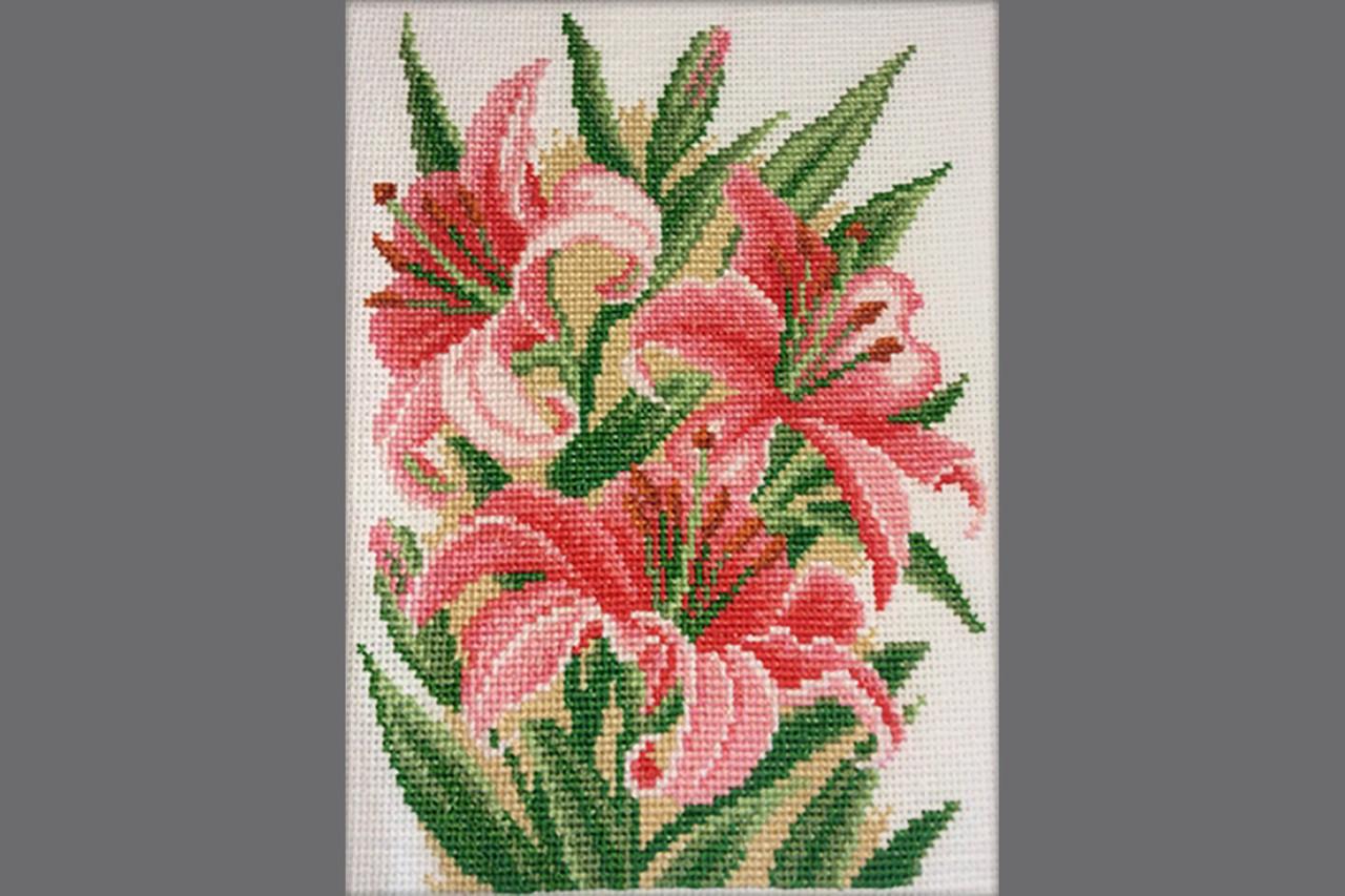 """Dantel набор для вышивания крестом """"Розовые лилии"""" 014Д"""