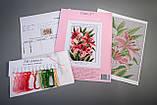 """Dantel набор для вышивания крестом """"Розовые лилии"""" 014Д, фото 2"""