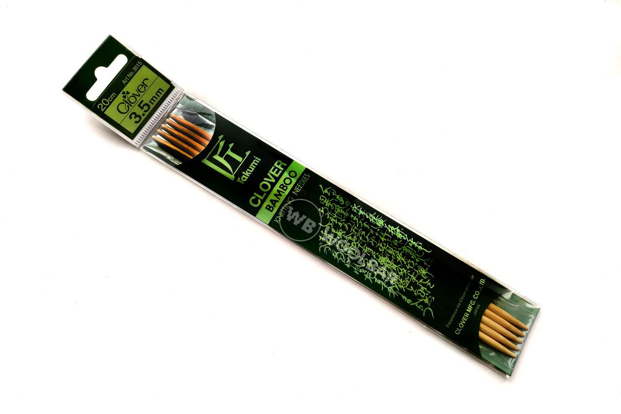 Clover - Спицы чулочные Takumi бамб., 20 см, 3.5 мм