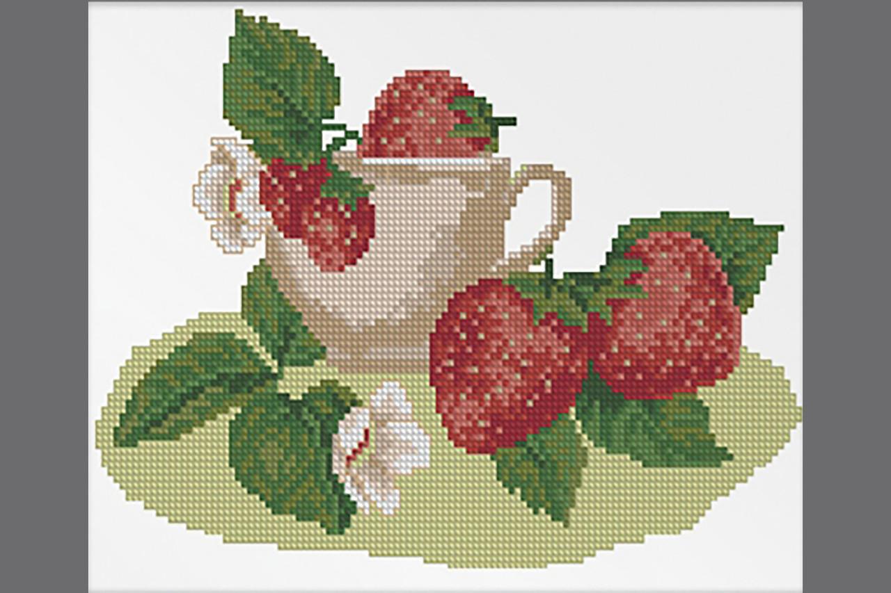 """Dantel набор для вышивания крестом """"Клубничный чай"""" 009Д"""